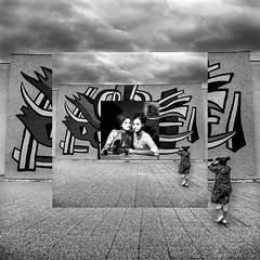 LEGER (zventure,) Tags: nb monochrome bw noiretblanc blackandwhite muséefernandléger montage miseenabime modèle mannequin portrait photographe photographie photo