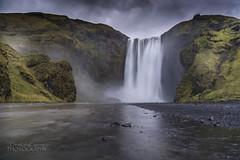 Skogafoss, Iceland after rain (ChrisKirbyCapturePhotography) Tags: skogafoss iceland waterfall reflections