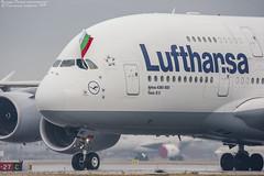Lufthansa A380 in Sofia. (bogomil petrov) Tags: lsof a380 lufthansa lufthansaa380 canon1dmarkiii sigma150600c sofia airport bulgaria ls lbsf daimd