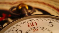 Tiempo... (Juan Lauriente) Tags: tiempo time reloj clock cronmetro cronometer 60 30 watch macro lettering typography rojo negro red black tipografa letras nmeros vintage viejo old rosca thread momento instante instant segundo second
