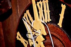 A Stitch in Time (donjuanmon) Tags: donjuanmon macro macromondays hmm theme time stitch numerals roman clock hands thread needle cuckoo