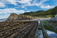 All roads lead to her (Javiralv) Tags: flysch playa beach spain clouds nubes guipzcoa
