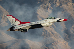 Thunderbirds at Nellis (Nick Collins Photography, Thanks for 2.1 million v) Tags: thunderbirds f16c f16d fighting falcon aircraft airshow aviation flying military nellis nevada usaf usa canon 7dmk2 500mm