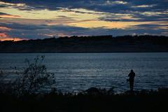 The Fisherman (Terje Hheim (thaheim)) Tags: nikon nikond7100 d7100 1680mmf284eedvr hvaler stfold brattest evening dusk