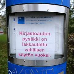 Savelas (neppanen) Tags: sampen discounterintelligence helsinki helsinginkilometritehdas suomi finland piv76 reitti76 pivno76 reittino76 savela kirjastoauto