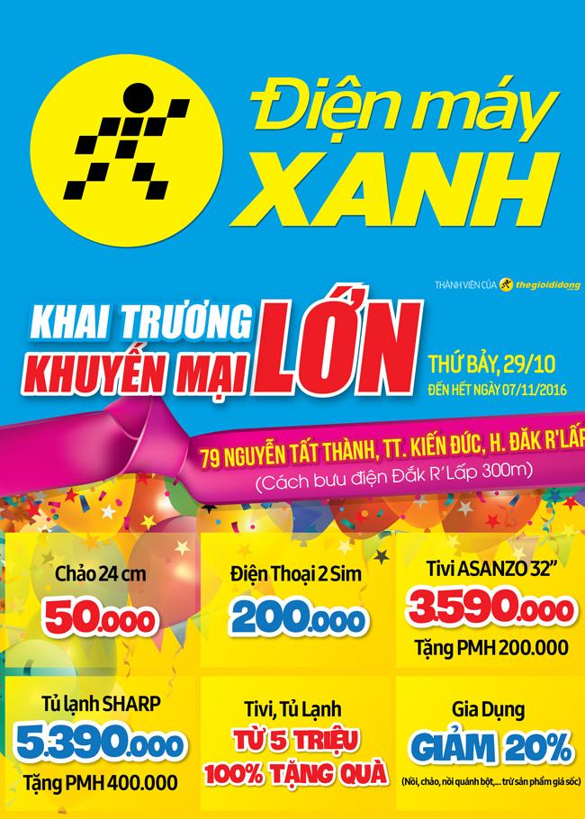 Khai trương siêu thị Điện máy XANH Đắk R'Lấp, Đắk Nông