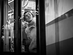 328/366 - Überraschung / Surprise (Boris Thaser) Tags: 365 366 43 abend augsburg bahn bavaria bayern creativecommons deutschland erwachsener explore fenster flickr frau fujixt1 fujifilmxt1 gefühl germany gesicht menschen nacht project365 projekt querformat sw scheibe schwarzweis stadt strase strasenbahn strasenfotografie streetphotography szene tram verwunderung zug adult astonishment bw blackandwhite candid city emotion eve evening face feeling landscapeformat night people photoaday pictureaday project project366 scene street streettog streetcar surprise tog train tramway trolleycar ungestellt unposed window woman zweisichtde zweisichtig überraschung