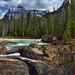 A Mountain Backdrop for Natural Bridge (Yoho National Park)