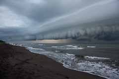 Nuage de pluie (sosivov) Tags: tortuguero costarica clouds plage sea coast rain