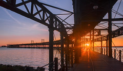 _DSC8720-ver2 (jsanchezq65) Tags: puestadesol sunset muelle puerto architecture mar reflejos sol sunsets harbor huelva spain españa andalucía andalusia