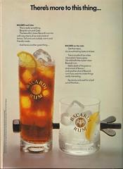 Bacardi Rum 1974 (OldAdMan) Tags: oldadman vintage advertisements advertising magazines rum white bacardi bacardicoke 1974
