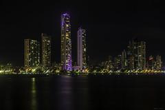 Panama Nights (Bernai Velarde-Light Seeker) Tags: panama city apartment buildings edificios apartamentos mar sea ocean oceano pacific pacifico bernai velarde