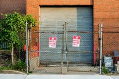 Narrow Margin (ep_jhu) Tags: washington entrada garage rust dc fujifilm abandonado ne abandoned noparking noma moho chainlink sign fuji x100s decayed floridaave entrance metal fence