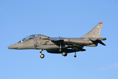 ZH660 108 (calzer) Tags: qwic 2006 november sunny military aviation flying bae t10 raf harrier jump jet kinloss