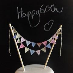 Happy 60th Birthday (Emma Bunting) Tags: birthday bunting cake mini emma happy vintage retro straws handmade made britain