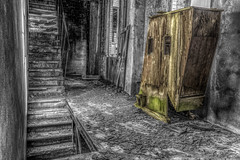 Noir blanc et couleur (sebastienloppin) Tags: 1855 60d abandoned abandonnee ardennes canon cereales champagne champagneardenne hdr lightroom marne minoterie photomatix ruin ruine ruines ruins urbex explorationurbaine urbanexploration decay factory