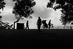 Rikshaw (_MaK_) Tags: street monochrome people silhouette bw dailylife ride rikshaw candid bangladesh