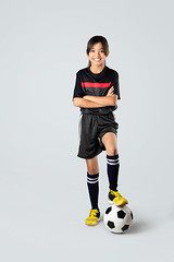 Soccer (Patrick Foto ;)) Tags: action active activity asian background ball beautiful caucasian child childhood concept copyspace cute daughter education expression female football fun futsal game girl happiness happy health healthy holding isolated joy joyful kid lifestyle little one people person player playing portrait running smile soccer sport studio thai thailand white young