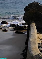 MinusTideAtTheWall (mcshots) Tags: usa california socal losangelescounty pch coast beach wall rocks tides autumn ocean swells sea water nature travel stock mcshots