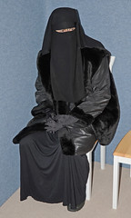 Warm Clothed (Buses,Trains and Fetish) Tags: warm clothed slave girl fur niqab hijab burka chador sweat