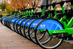 Bikes (Pedro1742) Tags: green blue transportation wheels letters symbols