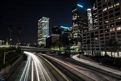 The 110 Freeway (PhotonLab) Tags: the 110 freeway lighttrails lightpainting lowlight longexposure losangeles night nightscene nightshooter nocturnal noflash dtla la sonya7ii sony zeiss zeissglass batis 25mm 25mmf2 streets urban city