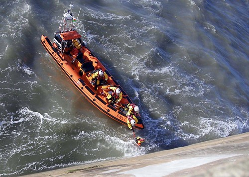 Training exercise onboard Porthcawl's Atlantic 85