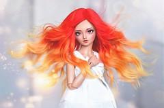 phoenix hair (4arllin) Tags: bjd minifee mnf doll alpaca wig fairyland tan shushu mod sp sleeping 4arllin