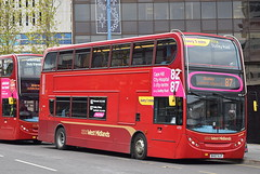 National Express West Midlands, Alexander Dennis Trident 2/Enviro 400, 4751 (paulburr73) Tags: prioryqueensway 4751 bv57xjt enviro400 nationalexpress westmidlands nxwm doubledecker wb westbromwich birmingham 2016 december saturday service87 oldbury smethwick dudley h4532f adl alexanderdennis trident2 midlands city urban transport citycentre buses bus branding branded crimson yardleywood 4761