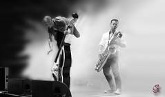 Exploding bassist vs. power saxophonist (Real_Aragorn) Tags: bass saxo boppin b aschaffenburg concert music