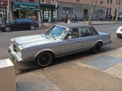1980 Dodge Diplomat on the Street (Vintage car nut) Tags: 1980 1980s dodge diplomat sedan white wall tires new york car spotting