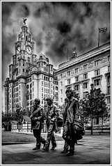 THE BIRDS AND THE BEATLES (Mick Ryan Photography) Tags: monochrome city liverpool blackandwhite thebeatles