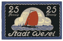. (Kaïopai°) Tags: money note rhein segelschiff geld wesel notgeld segler papiergeld geldnote pfennig1921