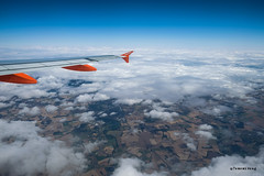 Beautiful moment (TomoB Wong) Tags: travel england sky clouds plane landscape scotland flying bluesky land fujifilm 16mm easyjet ontheway     xt1