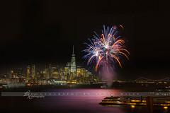 Celebrate!! (betty wiley) Tags: city nyc newyorkcity night lights cityscape fireworks manhattan hamilton explosion empirestate celebrate bigapple lowermanhattan pyrotechnics freedomtower bettywileyphotography