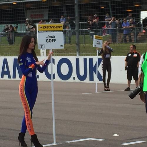 Jack Goff's grid spot in BTCC at Rockingham, September 2015