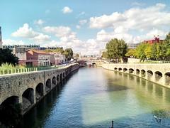 Quartier de la Villettte et son canal (srakotomaniraka) Tags: seine canal couleur parisfrance quais regionparisienne lavillettte