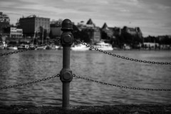 Here's a new post for you... (Brandon Godfrey) Tags: city urban blackandwhite bw canada water monochrome skyline outdoors bc harbour britishcolumbia victoria vancouverisland theempresshotel