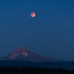 Lunar Eclipse over Mount Hood thumbnail