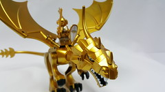 castle_dragon&knight (zerobaek0100) Tags: castle painting newcastle gold dragon lego knight custom zero mania minifigure mifi zerobaek