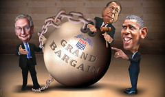 The Grand Bargain - It's Back Baby (DonkeyHotey) Tags: house art face photomanipulation photoshop ball photo election unitedstates president political politics whitehouse cartoon manipulation chain caricature republican billclinton commission democrat gop commentary 2012 barackobama medicare politicalart ballandchain medicaid commanderinchief politicalcommentary weeper speakerofthehouse johnboehner donkeyhotey simpsonbowles fiscalcliff grandbargainsocialsecurity