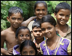 Cheerful Adivasi Kids In Forest (Indianature14) Tags: india nature forest children september maharashtra westernghats monsoons mahuli indigenouspeople 2015 adivasi indianature thanedistrict vashind adivasichildren
