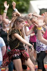2015_CarolynWhite_Friday (85) (Larmer Tree) Tags: friends sun girl youth happy dance friday 2015 handsintheair mainlawn carolynwhite