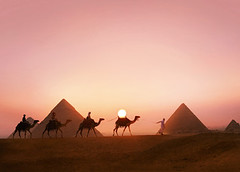 Egyptian-pyramids-sunset1 (timtiburzi) Tags: