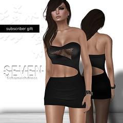 SEVEN - LISHA mesh DRESS (ArwenLy Resident) Tags: dress mesh free fishnet mini secondlife gift seven subscriber