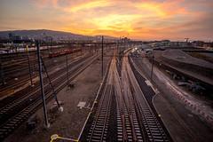 The new race track (jaeschol) Tags: morning light switzerland railway sbb zrich kreis5 hardbruecke