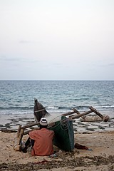 Waiting.. (Massimo Catusi (Never Stop Exploring)) Tags: life sea sky sun fish man beach colors canon lens 50mm boat fishing fisherman time infinity falling mozambique pemba canonef 1100d canon1100d
