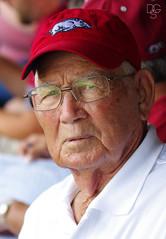 Senior Razorback Fan (DGS Photography) Tags: fan baseball wwii jim arkansas veteran 90 fatherinlaw uofa fayetteville universityofarkansas superregional arkansasrazorbacks baumfield