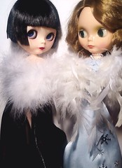 """Blythe-a-Day December#15 """"Frankly, My Dear"""" & #17 Snowflakes: LaVern & Angel at Premiere of """"Gone with the Wind"""""""
