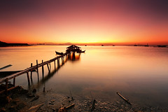 The Rising (fiz_zero) Tags: morning sunset sea wallpaper sky sun holiday seascape beach nature skyline sunrise landscape pier boat seaside amazing fisherman nikon asia alone natural outdoor background jetty horizon cottage explore malaysia colourful penang nikon1635mmf4vr nikond750